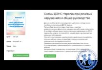 Схемы ДЭНС-терапии при речевых нарушениях и общее руководство