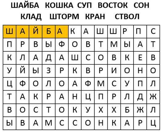 Найдите и выделите в матрице слова связанные с расцветом
